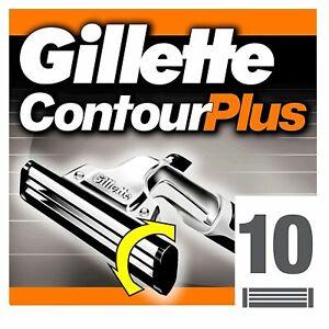 Gillette Contour Plus Razor Blades Cartridge 10 Refills FAST FREE P&P Original