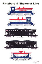 "Pittsburg & Shawmut 11""x17"" Poster by Andy Fletcher signed"