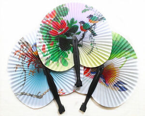 Paper Folding Fan - Loot/Party Bag Fillers Wedding/Kids Chinese Style Toy Fans