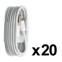 LOT DE 20 PACK CABLE CHARGEUR POUR IPHONE 8 7 6 PLUS SE 5S IPAD AIR MINI PRO USB