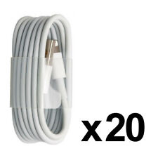 LOT DE 20 PACK CABLE CHARGEUR POUR IPHONE 8 7 6 PLUS SE 5S IPAD AIR MINI PRO USB