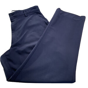 Mens 34 x 29.5 FootJoy Dark Blue Flat Front 5 Pocket Performance Pant