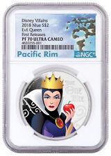 2018 Niue Disney Villains - Evil Queen 1 oz Silver $2 NGC PF70 UC FR SKU53807