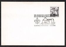 Austria # 618A with Scout Pathfinder Postmark 6/5/65 - I Combine S/H