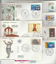 Timbres enveloppe avec 7 timbres