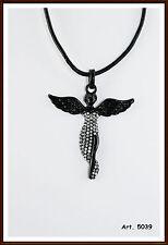 Engelsrufer Engelrufer Engel Anhänger schwarz Kette Leder Metall