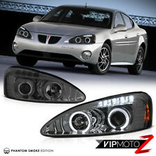 04-08 Pontiac Grand Prix GT GXP GTP L+R Halo Projector Smoke Headlight Lamp