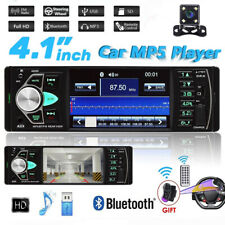 4.1'' Single 1DIN Car Stereo  Radio FM Radio  Bluetooth USB AUX MP3 MP5 + Camera
