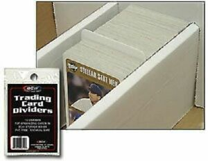 New (10 ct) BCW Standard Trading Card Dividers for Storage Boxes