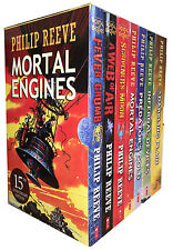 Philip Reeve Mortal Engines Quartet 7 Books Collection Fever Crumb a Web of AI