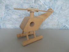 Vintage Wood Creative Playthings Toy Helicopter Made in Finland RARE!