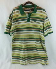 Enyce short sleeve polo Green Yellow Orange striped XXL St Patrick's Day 2XL