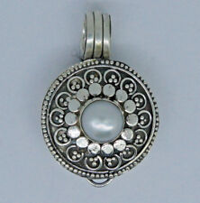 Vintage LOCKET PHOTO BOX Freshwater Pearl Pendant in 925 Sterling Silver - #K21