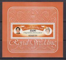 1981 Royal Wedding Charles & Diana MNH Stamp Sheet St Kitts SG MS81