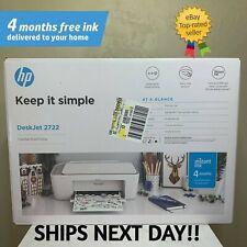 New Hp DeskJet 2722 All-in-One Wireless Color Inkjet Printer – Instant Ink Ready