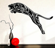 Vinyl Decal Wall Sticker Black Panther Wild Cat Predator Animal Tribal (n764)