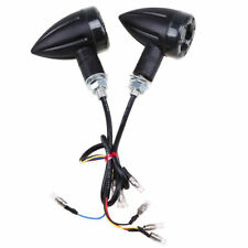 2X Motorcycle LED Turn Signal Brake Blinker Indicators Light Lamp Cafe Racer 8mm