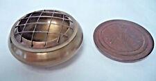"""Dark Brass Censer Incense Burner: 3"""", Screen Top for Charcoal Tablets & Resin"""