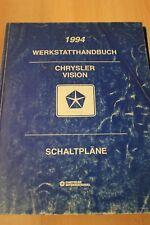 1994 Chrysler Jeep Vision Schaltpläne Werkstatthandbuch
