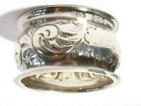 1917 Solid Silver Napkin Ring with KLA Initials 15grams