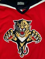 Florida Panthers Blank Red CCM Center Ice Size 44 Vintage NHL Authentic Jersey