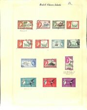 [OP3918] Solomon Islands lot of stamps on 12 pages