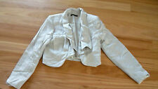 LADIES BEAUTIFUL GREY VISCOSE  POLY LINED LONG SLEEVE JACKET BY PORTMANS Size 8