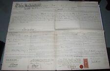 1866 DEED/INDENTURE - WILLIAM H SNYDER TO B FRANK INMAN - CITY OF PHILADELPHIA