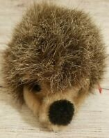 "Vintage Steiff Joggi Plush Hedgehog Stuffed Animal Germany Brown 6"" Tag Button"
