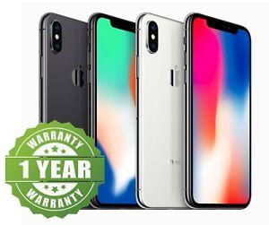 Apple iPhone X - 64GB 256GB - Unlocked SIM Free Smartphone Very Good Condition