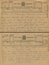 QUEEN ALEXANDRA SANDRINGHAM NORFOLK TELEGRAM CONTINENTAL RAILWAY JOURNEYS 1919