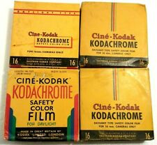 4x Expired Cine Kodak Kodachrome 16mm 100 Feet Color Movie Camera Film Unopened.