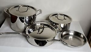 Cuisinart 7 Piece Stainless Steel Cookware Set EUC