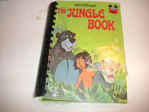 """The Jungle Book"" Walt Disney Braille and print sealed vintage"
