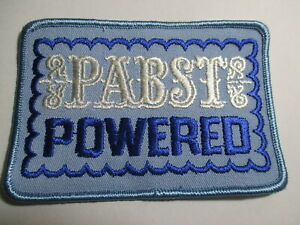 Pabst Powered Beer  Patch, Vintage, Original NOS  4 3/8 X  3  INCHES
