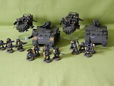 WARHAMMER 40K SPACE MARINE ARMY- PRAYING MANTIS PAINTED PLASTIC MODELS
