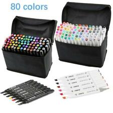 80 Colors Artist Dual Head Sketch Copic Markers Set For School Drawing Sketch !@