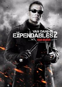 The Expendables 2 Film Poster - Jean-Claude Van Damme - Option 6 - A4 & A3