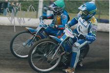 BYRON Bekker mano firmato Scunthorpe SCORPIONI Speedway gioco 6x4 Foto 3.