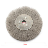6'' Stainless Steel Wire Wheel Brush Arbor 16mm For Derusting Polishing Grinding