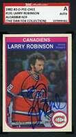 Larry Robinson 1982 83 OPC SGC Coa Autograph Authentic Hand Signed