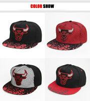 CHICAGO CAP BULLS Bull NBA Hip Hop Men's Black Red Basketball Hat  4 Colors