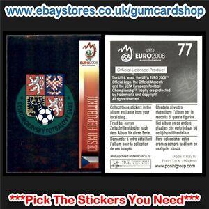 Panini Euro 2008 Stickers (Czech Republic) *Select the Stickers You Need*