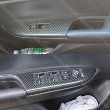 For Honda Accord 2013-2017 Carbon Fiber Color steel Door Window Lift Panel Cover