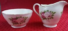 VINTAGE COLLECTIBLE ADDERLEY SMALL SUGAR BOWL AND CREAMER ENGLAND