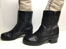 VTG WOMENS BCBGirls CASUAL BLACK BOOTS SIZE 8 M