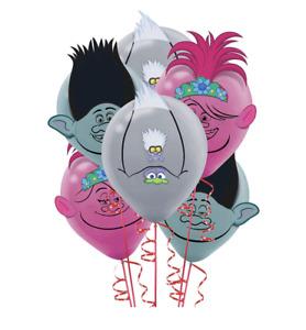 TROLLS World Tour Latex Balloon Birthday Party Decoration Kit 6ct + Paper Add On