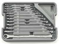 Gearwrench 85988 12 Pc XL 0º Gear Box Wrench Set Metric