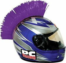 Motorcycle MotoX Snowmobile Helmet  Mohawk Purple Easy Install Hook & Loop Tape