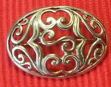 Vintage solid silver  brooch,stamped 925,unique  style.